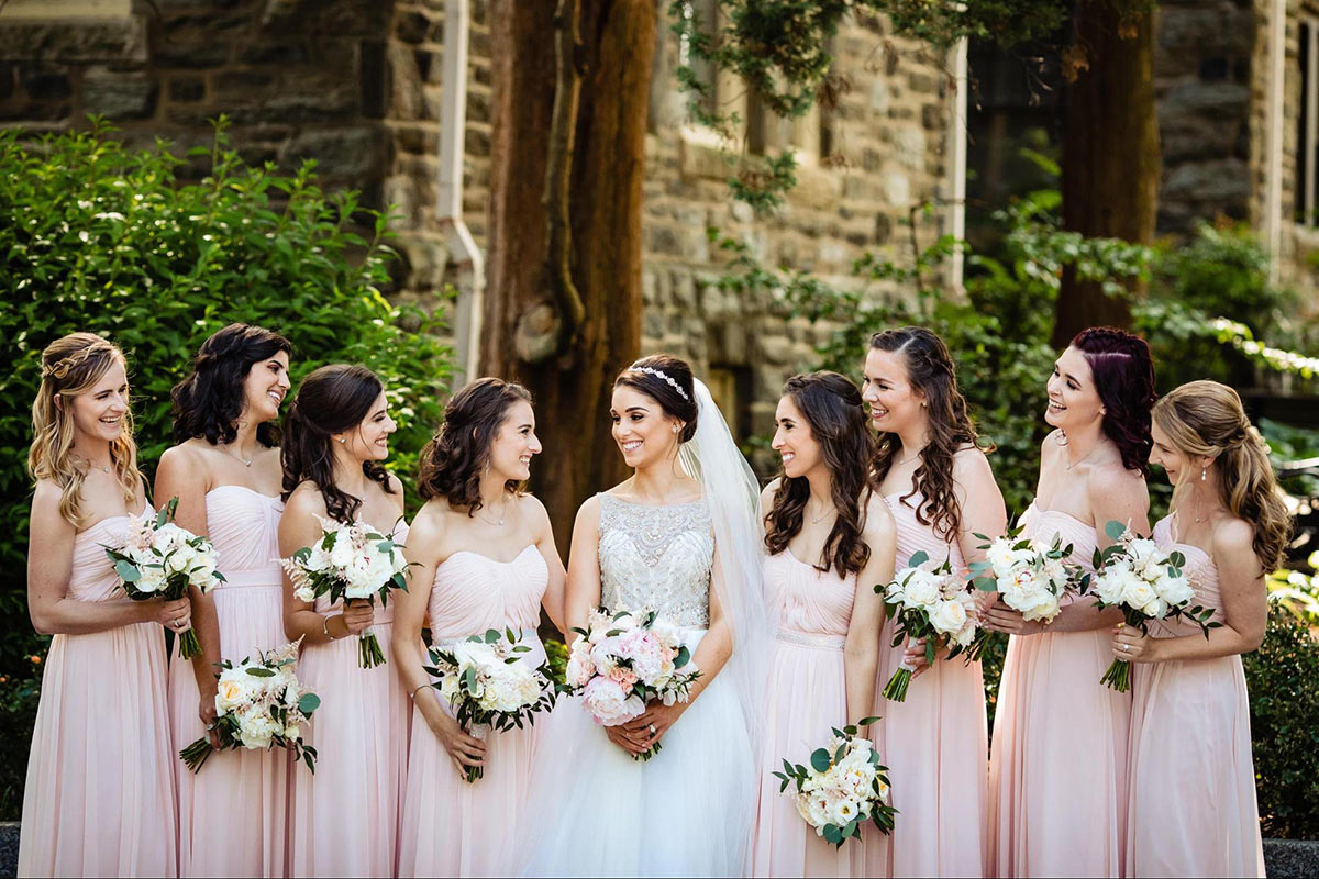 Dessy Real Wedding - Blush Bridesmaids - Dessy 2943 - Morby Photography
