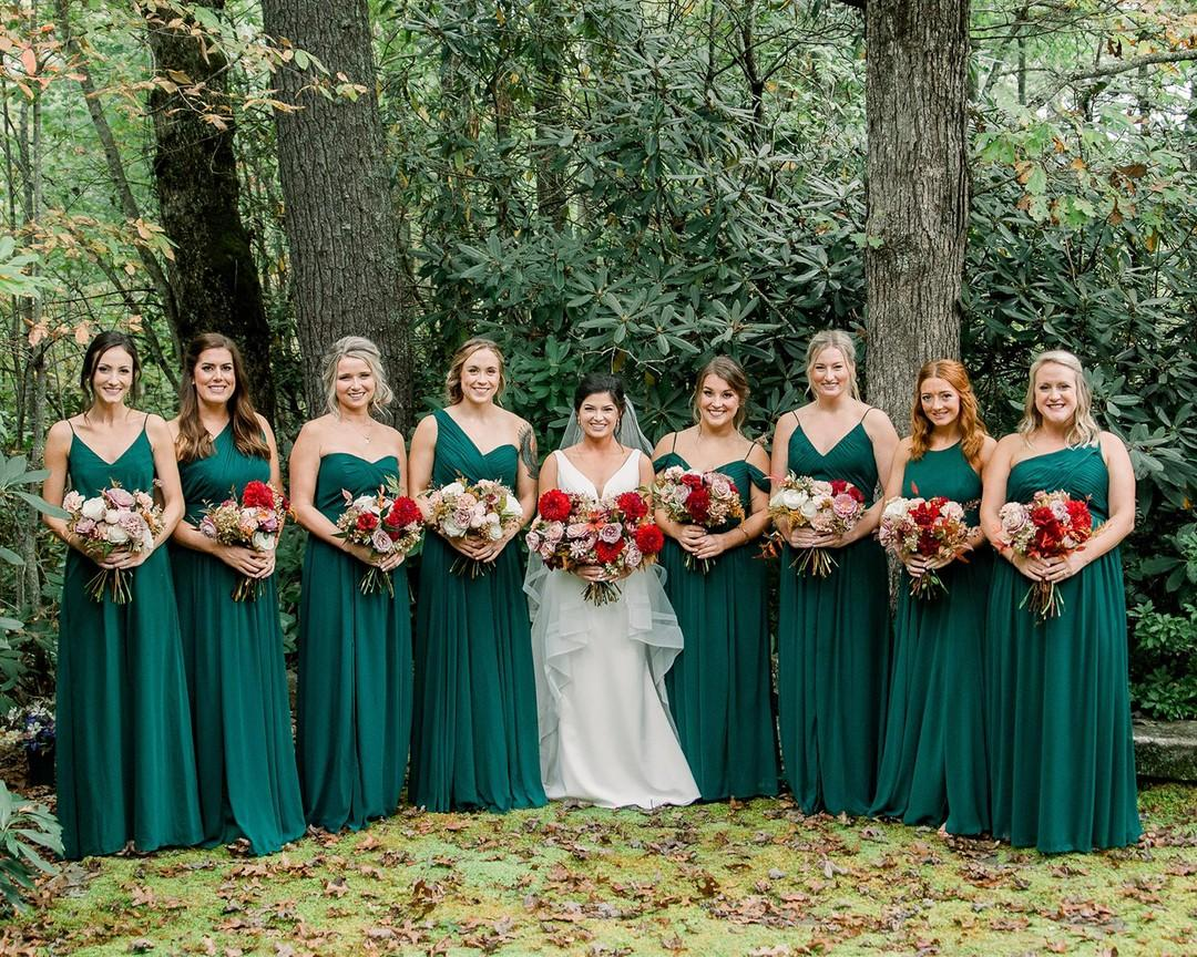Real Dessy Wedding: Hunter Green, Photo by Wayfaring Wanderer