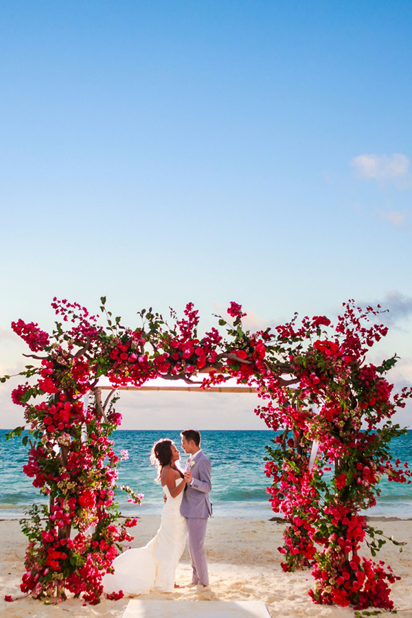 colorful wedding flowers