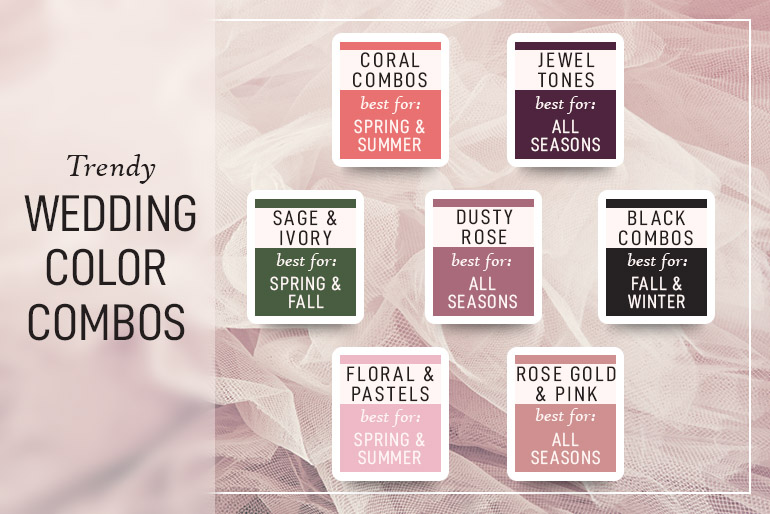 trendy wedding color combos 2019
