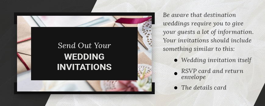 send wedding invitations for destination wedding