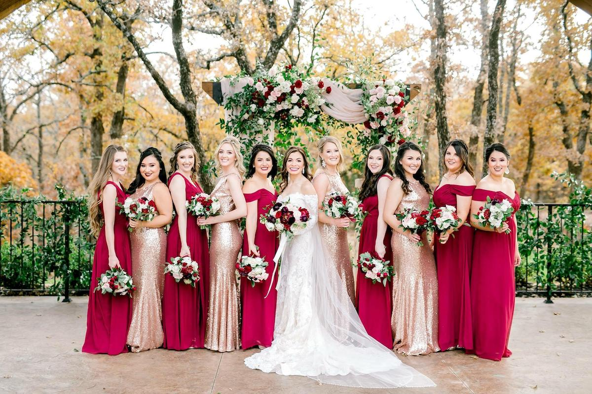 sequin bridesmaid dresses - Emily Nicole Watkins Photography