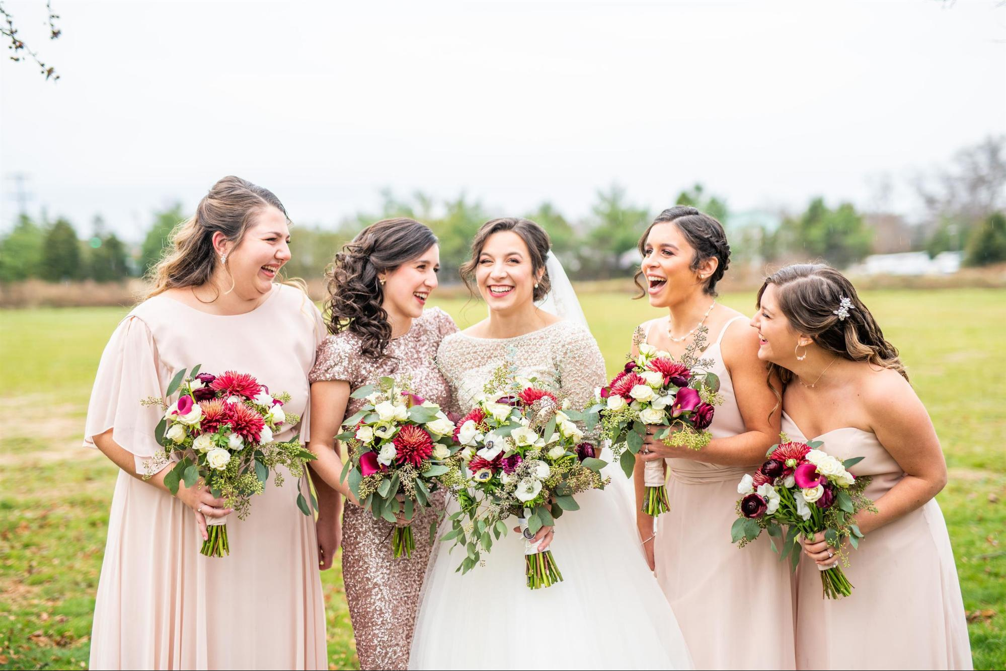 sequin maid of honor dress - Kaitlyn Ferris Photography