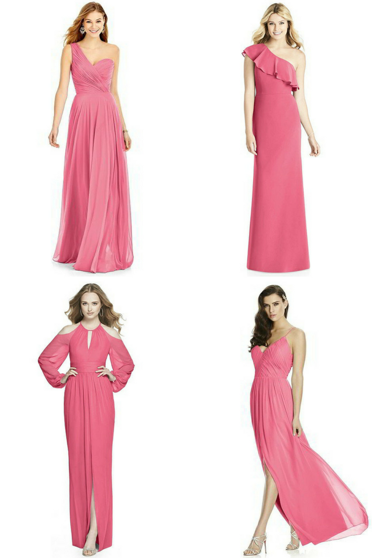 raspberry pink bridesmaid dresses