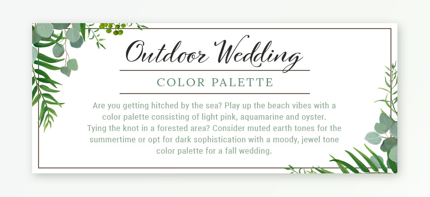 Outdoor Wedding Color Palette