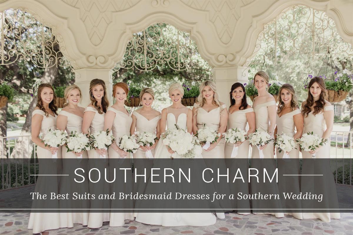 Best Suits and Bridesmaid Dresses for Souther Weddings