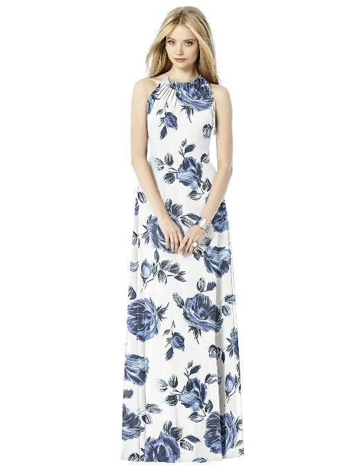 Navy Floral Bridesmaid Dresses