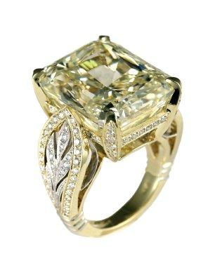 Canary Diamond engagement ring