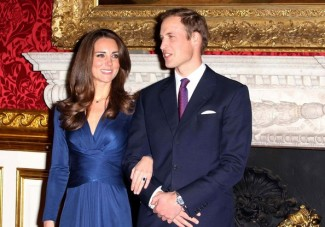 Duke and Duchess of Cambridge on their engagement day