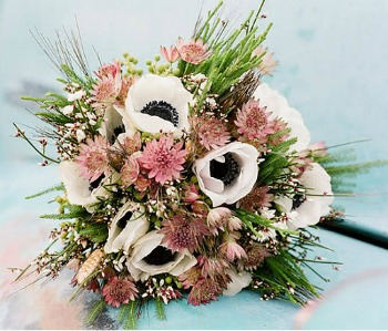 succulent and pinks wedding bouquet