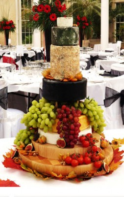 cheese wedding cake tier