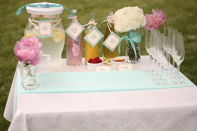 DIY Elegant Champagne Infusion Table