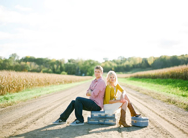 A Traveling Midwestern Girl's Engagement Shoot