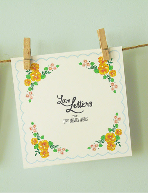 DIY Wedding Guestbook: Handkerchief Love Letters