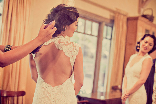 A Vintage Wedding that Stepped Out of the 1920s