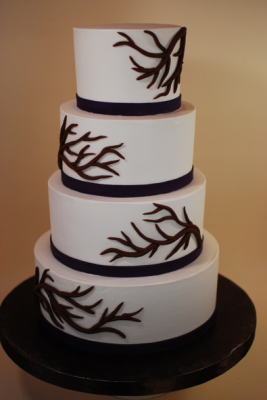 bare branch design tiered cake