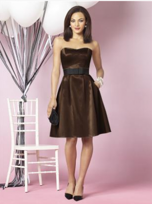 short brown bridesmaid dress