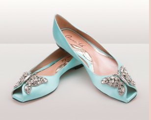 Tiffay blue wedding shoes by Aruna Seth