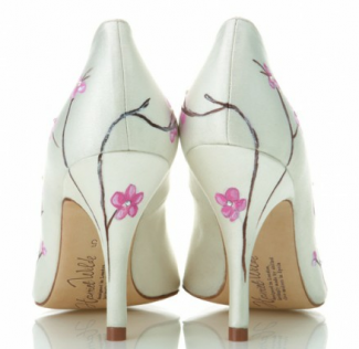 floral wedding shoes by Harriet Wilde
