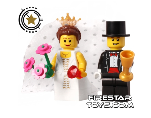 Bride and groom made for lego wedding