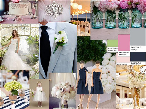 Inspiration Wedding Styleboard of the Week: Navy, Pink & Gray