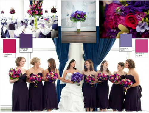 winter wedding colours in deep purples