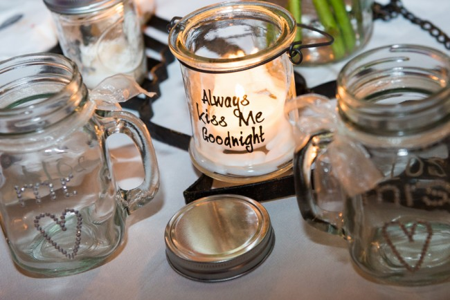 DIY wedding table candles