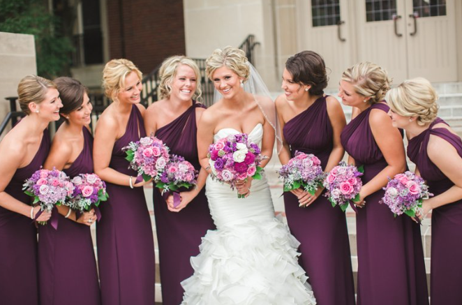 Plum Bridesmaids SB Childs Photography Tara NIcole Weddings and Events