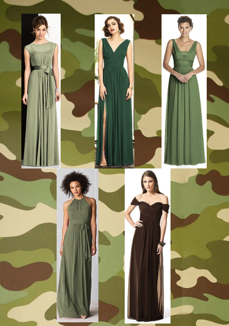 army green bridesmaid dresses