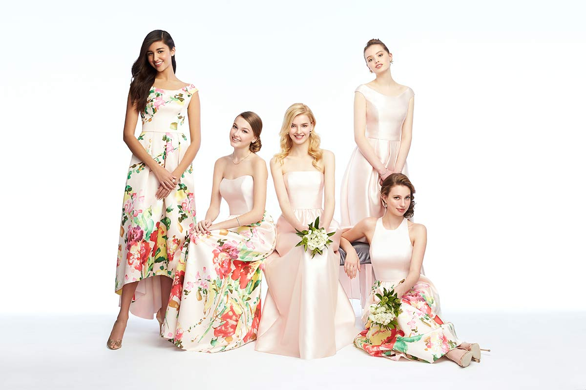 6 must see mix match bridesmaid looks the dessy group mix match bridesmaid dresses in florals ombrellifo Choice Image