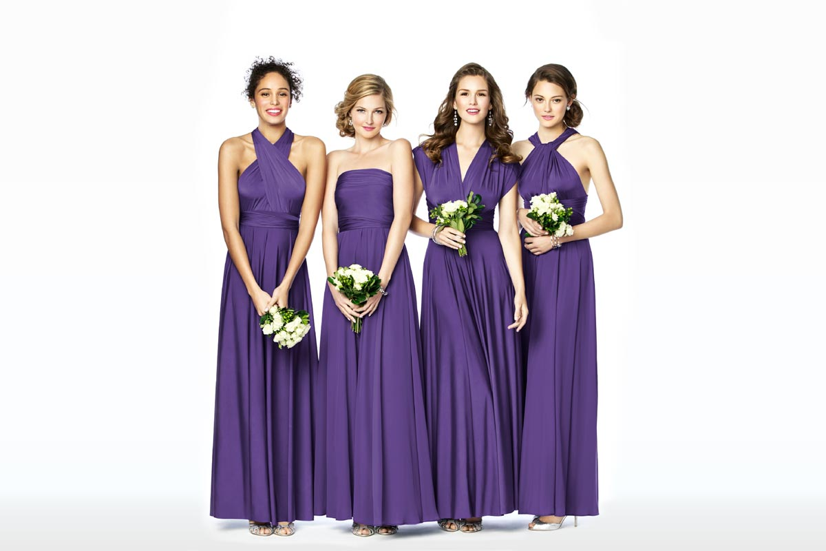 6 must see mix match bridesmaid looks the dessy group mix match bridesmaid dresses twist wrap dresses ombrellifo Choice Image