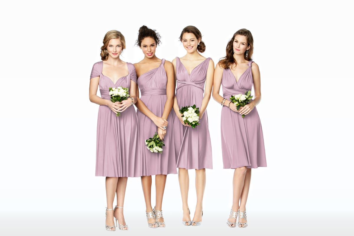 6 must see mix match bridesmaid looks the dessy group mix match bridesmaid dresses twist wrap desses ombrellifo Choice Image