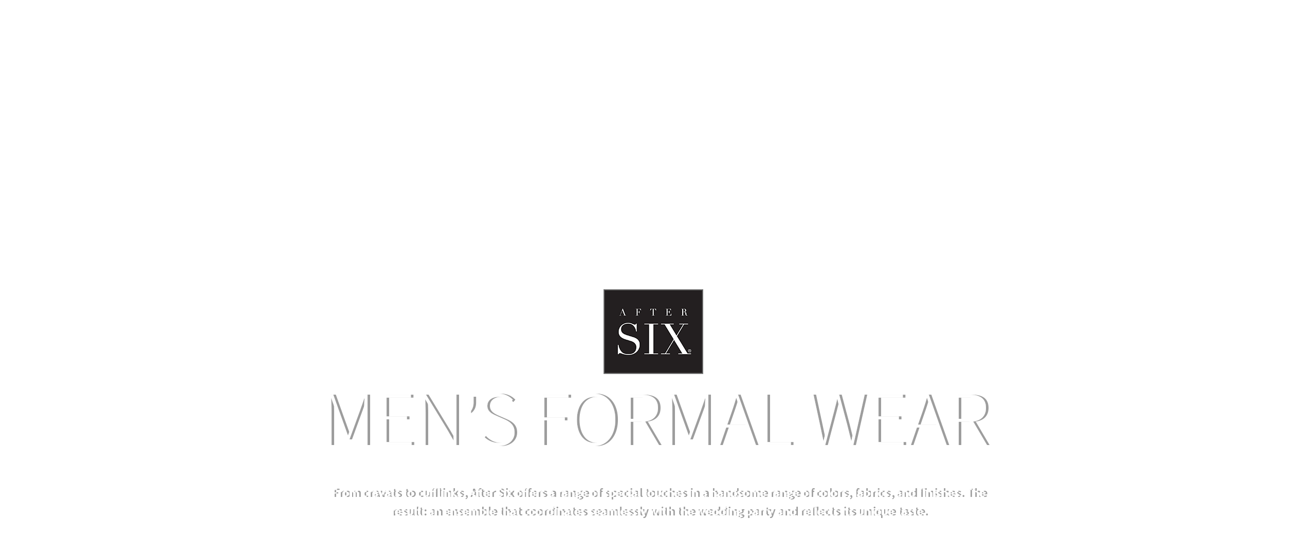 Menswear & Men's Formal Accessories by After Six