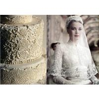 Pictures of wedding cakes - inspired by iconic wedding dresses