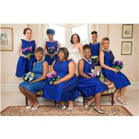 Go High Voltage with Electric Blue Bridesmaid Dresses