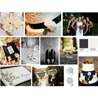 A Charming Black and White Wedding of Elegance