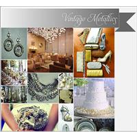 Wedding Inspiration Styleboard: Vintage Metallics