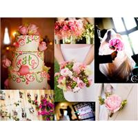 A Pink and Green Wedding Inspiration Style Board