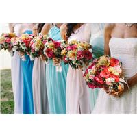 Floral Prints and Fun Colors: The Best Bridesmaid Dresses for a Summer Wedding